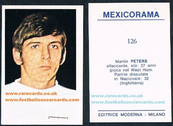 1970 Martin Peters 126 Mexicorama